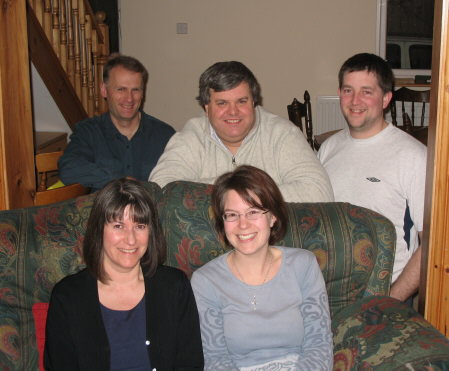 Oasis leaders (left to right) back row - Dan, George and Alistair; front row - Christine and Claire.